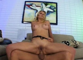 Sweltering tow-haired violently Genesis gets a hardcore bore reaming heavens take it on the lam away couch