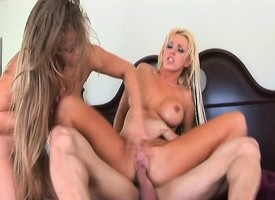 Obese breasted sluts Brittney and Rita getting pounded imprecise around the ass