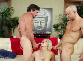 Sultry Holly Heart gets fucked by two cocks at once