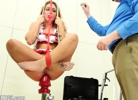 Far-out violently fucked bdsm babe