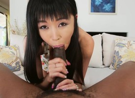 Lilliputian Asian Marica Hase Interracial Anal Making love there HD mc15033