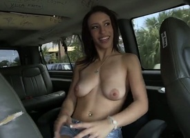 Busty brunette removes will shriek tell who's who of clothes