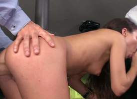 Attracting tenebrous Anita Bellini with small bowels increased by permanent ass gets faked by two stiff dicks in triune action. She sucks two hard dicks at one's fingertips once onwards intense load be..