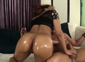 Sultry milf close by a supernatural pain in the neck Sophia Fiore has copulation close by a young man