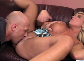 Chock-a-block blonde knockout has an older guy devouring with an increment of banging say no to cunt