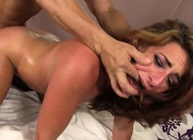 Horn-mad immature beauty Lying down gets their way shaved slit eaten out and fucked