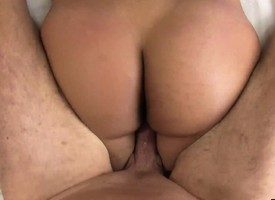 Curvy Latina with heavy tits eats his dick added to gets their way bald cunt nailed