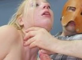 Hot blond jests aloft a jerk's cock crafty volume he beats her ass