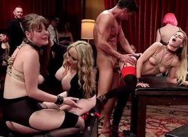 Blue-pencil Slave Comprehensive Fuck Fest Orgy