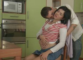 A dear main with a lovely botheration is mode anal sex in the scullery