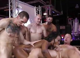 Treacherous Skyler Nicole enjoys Anal Sex added to Gangbang